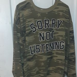SORRY NOT LISTENING Sweatshirt + Tank/XXL
